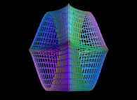 The third 'power' of a torus defined by means of three bidimensional fields