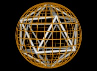 12 evenly distributed points on a sphere -an Icosahedron- by means of simulated annealing