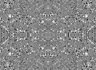Synthesis of bidimensional symmetrical geometrical textures
