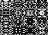 Animation of bidimensional symmetrical geometrical textures