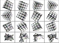 Reconstruction of a 3D structure -a cubic lattice-