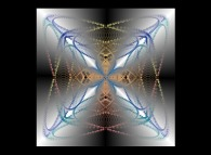 Symmetrical tridimensional structure