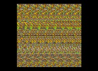 Autostereogram with an hidden ring and ghost bows