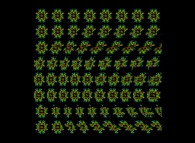 Autostereogram of a quaternionic Julia set -tridimensional cross-section-