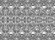 Autostereogram with an hidden volcano