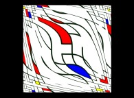Intertwining -a tribute to Piet Mondrian-