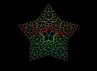 A tridimensionally distorded pseudo-periodical Penrose tiling of the Golden Decagon