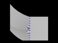 Tridimensional display of the Riemann Zeta function inside [-50.0,+50.0]x[-50.0,+50.0]